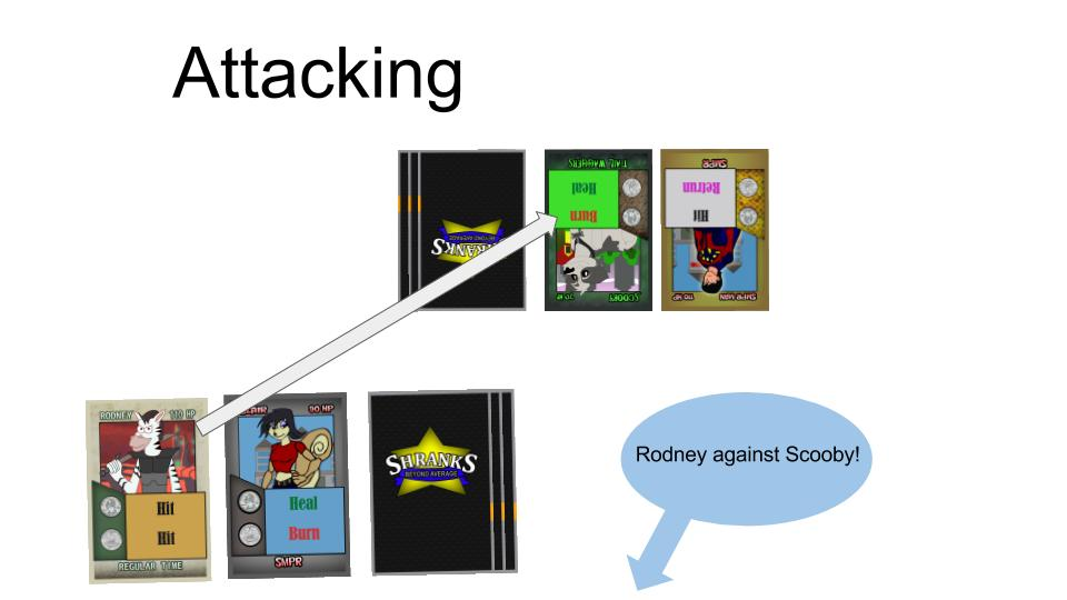 Attacking characters cards