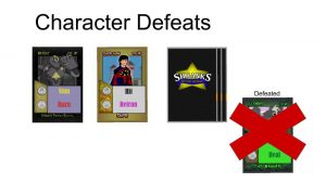 Defeating Character Cards