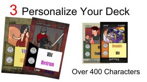 Your personalize your card deck in Shranks