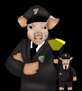 Officer Pig of 16 Bit