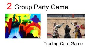 Shranks can be a trading card game or group party game